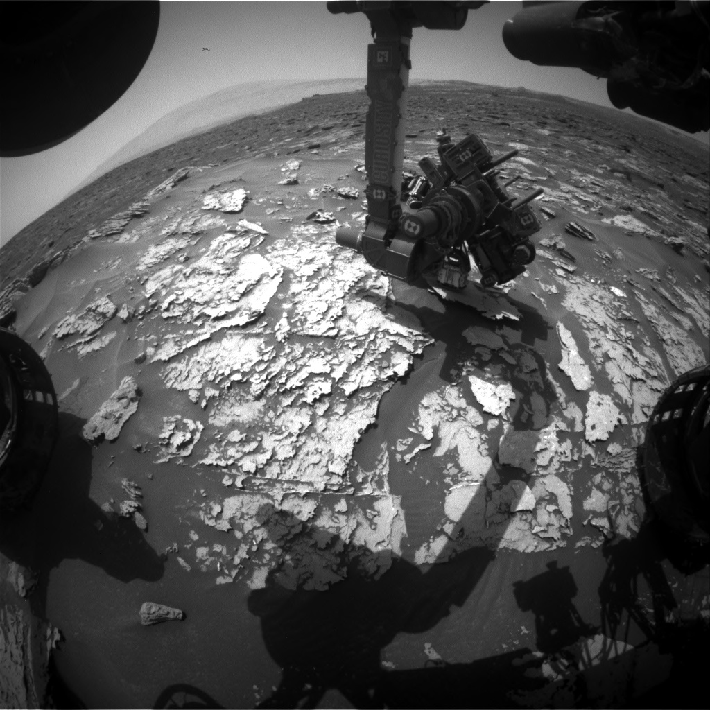 Nasa's Mars rover Curiosity acquired this image using its Front Hazard Avoidance Camera (Front Hazcam) on Sol 1698, at drive 766, site number 63