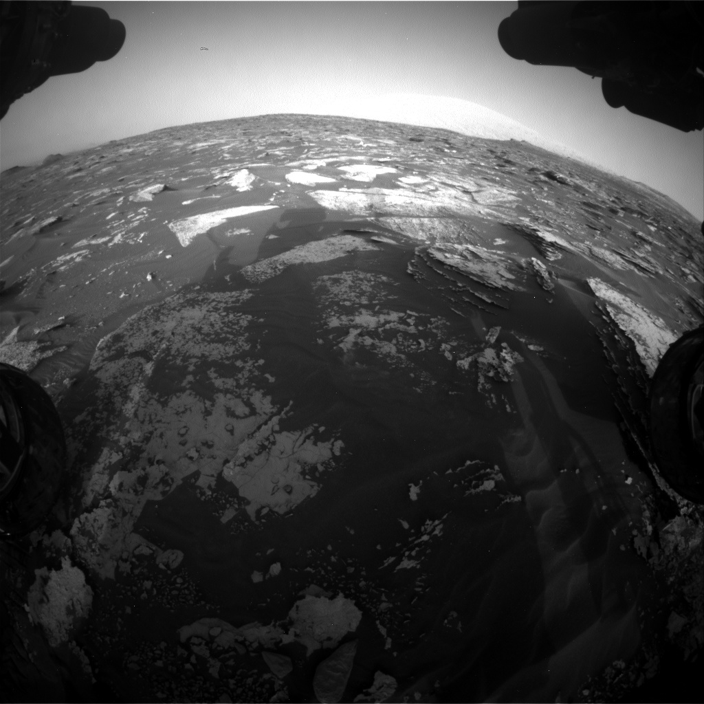 Nasa's Mars rover Curiosity acquired this image using its Front Hazard Avoidance Camera (Front Hazcam) on Sol 1698, at drive 1150, site number 63