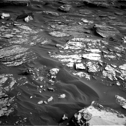 Nasa's Mars rover Curiosity acquired this image using its Left Navigation Camera on Sol 1698, at drive 838, site number 63