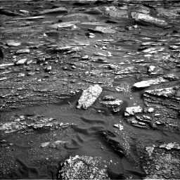 Nasa's Mars rover Curiosity acquired this image using its Left Navigation Camera on Sol 1698, at drive 1030, site number 63