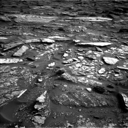 Nasa's Mars rover Curiosity acquired this image using its Left Navigation Camera on Sol 1698, at drive 1096, site number 63