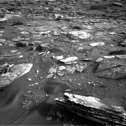Nasa's Mars rover Curiosity acquired this image using its Left Navigation Camera on Sol 1698, at drive 1144, site number 63