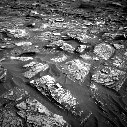 Nasa's Mars rover Curiosity acquired this image using its Right Navigation Camera on Sol 1698, at drive 1126, site number 63