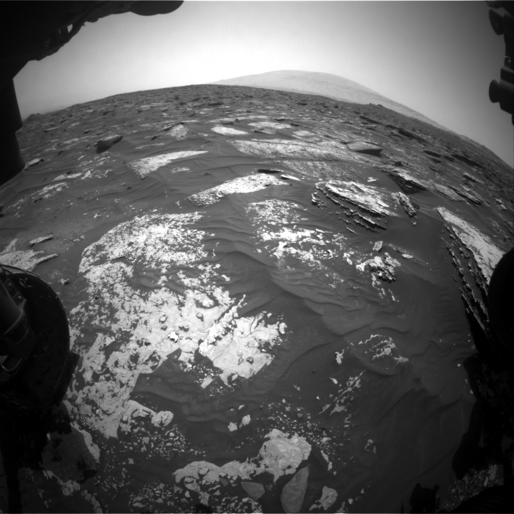 NASA's Mars rover Curiosity acquired this image using its Front Hazard Avoidance Cameras (Front Hazcams) on Sol 1699