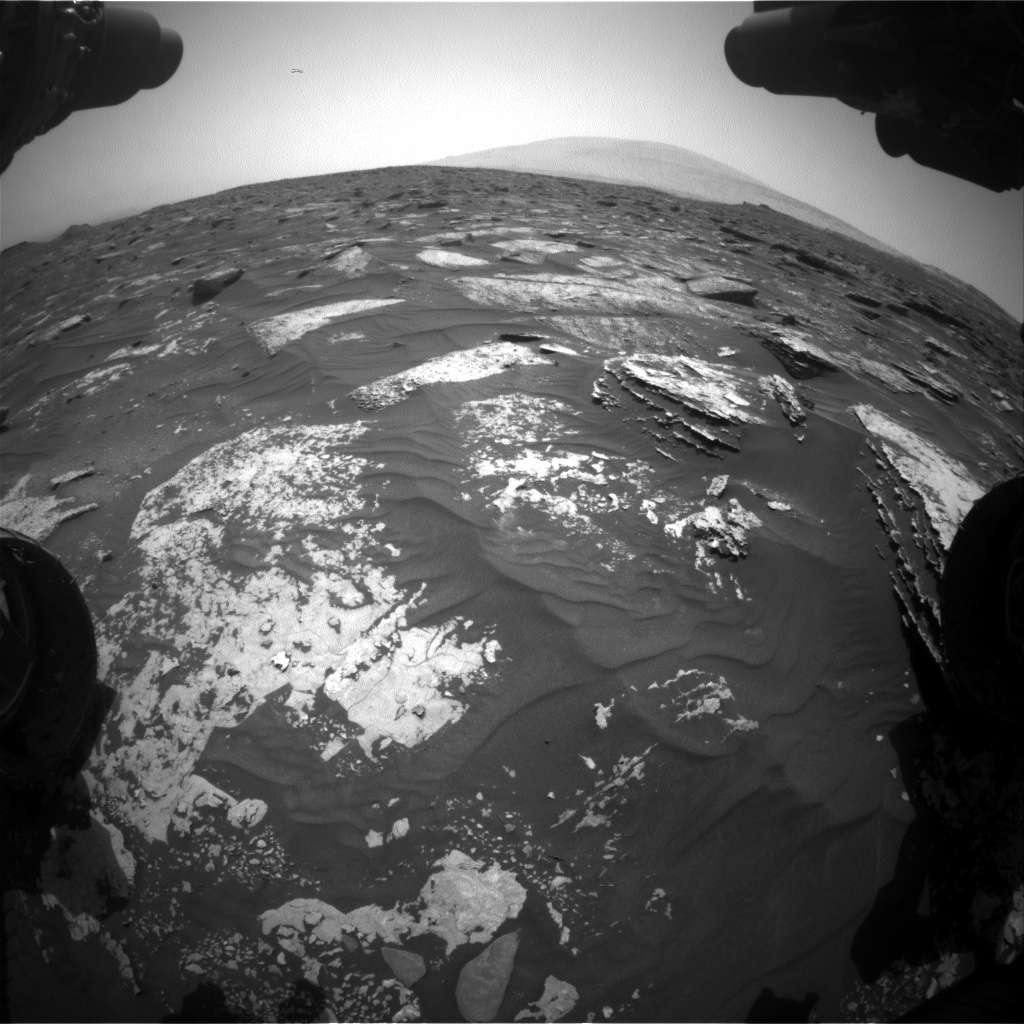 Nasa's Mars rover Curiosity acquired this image using its Front Hazard Avoidance Camera (Front Hazcam) on Sol 1699, at drive 1150, site number 63