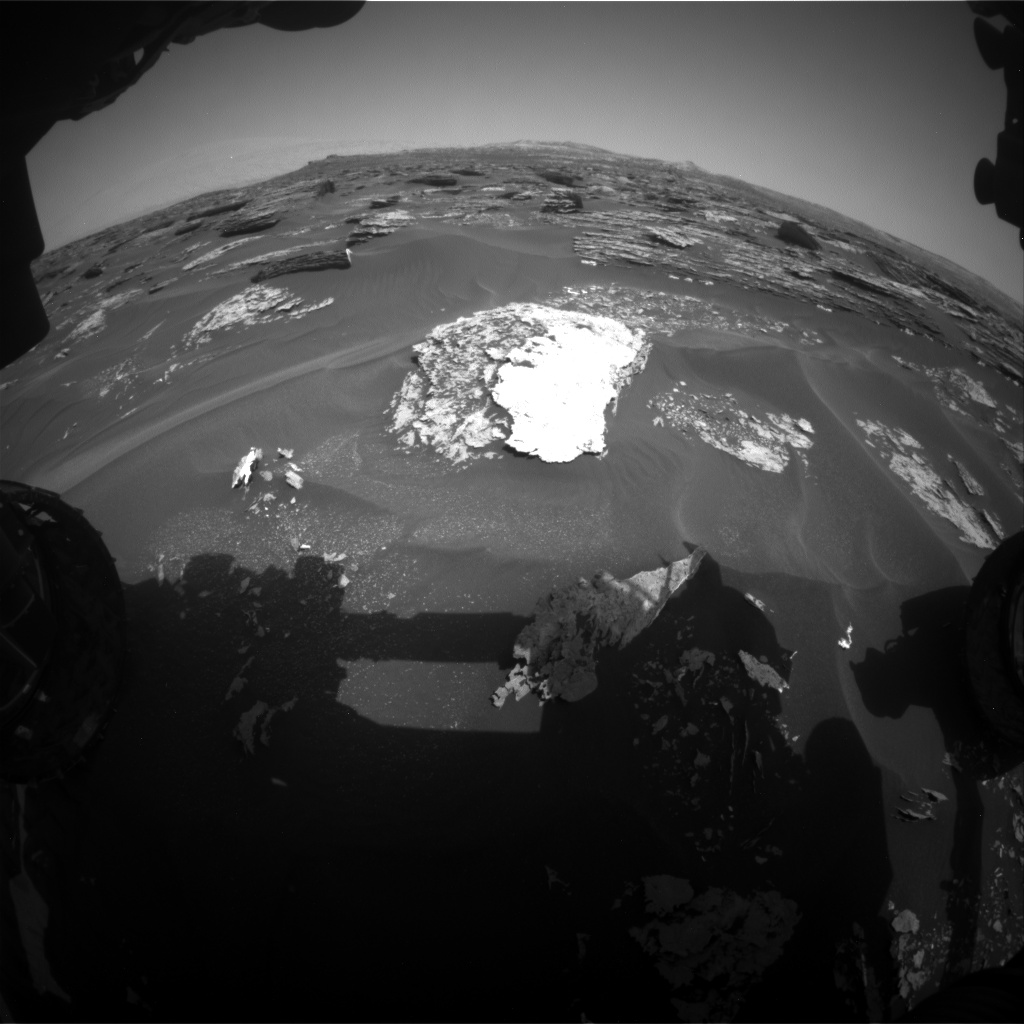 Nasa's Mars rover Curiosity acquired this image using its Front Hazard Avoidance Camera (Front Hazcam) on Sol 1700, at drive 1420, site number 63
