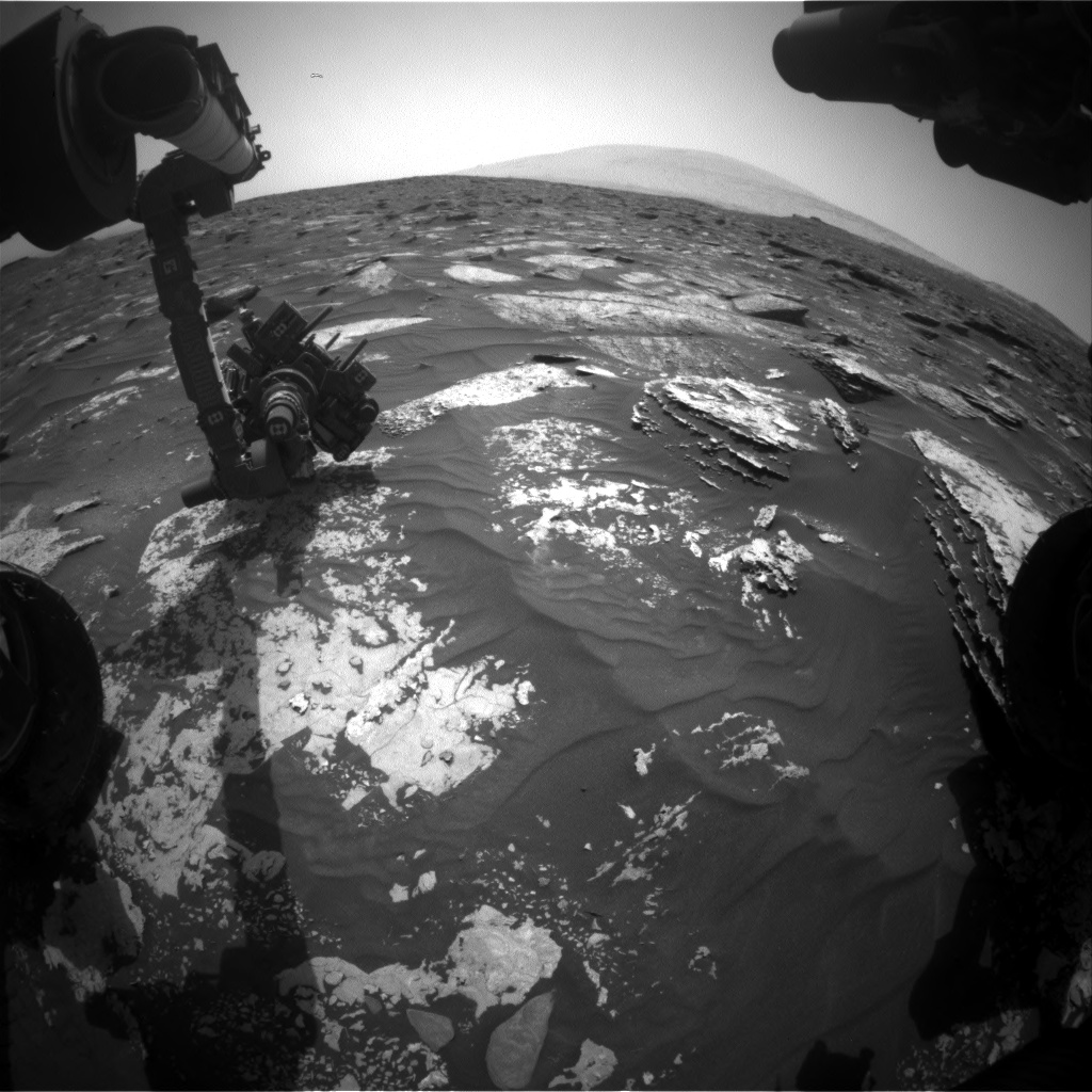 Nasa's Mars rover Curiosity acquired this image using its Front Hazard Avoidance Camera (Front Hazcam) on Sol 1700, at drive 1150, site number 63