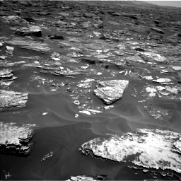 Nasa's Mars rover Curiosity acquired this image using its Left Navigation Camera on Sol 1700, at drive 1186, site number 63