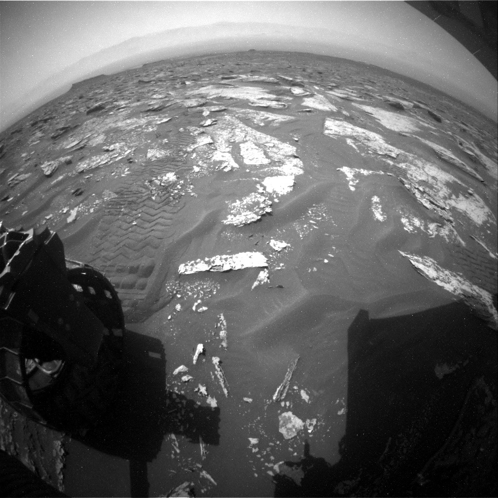 NASA's Mars rover Curiosity acquired this image using its Rear Hazard Avoidance Cameras (Rear Hazcams) on Sol 1700