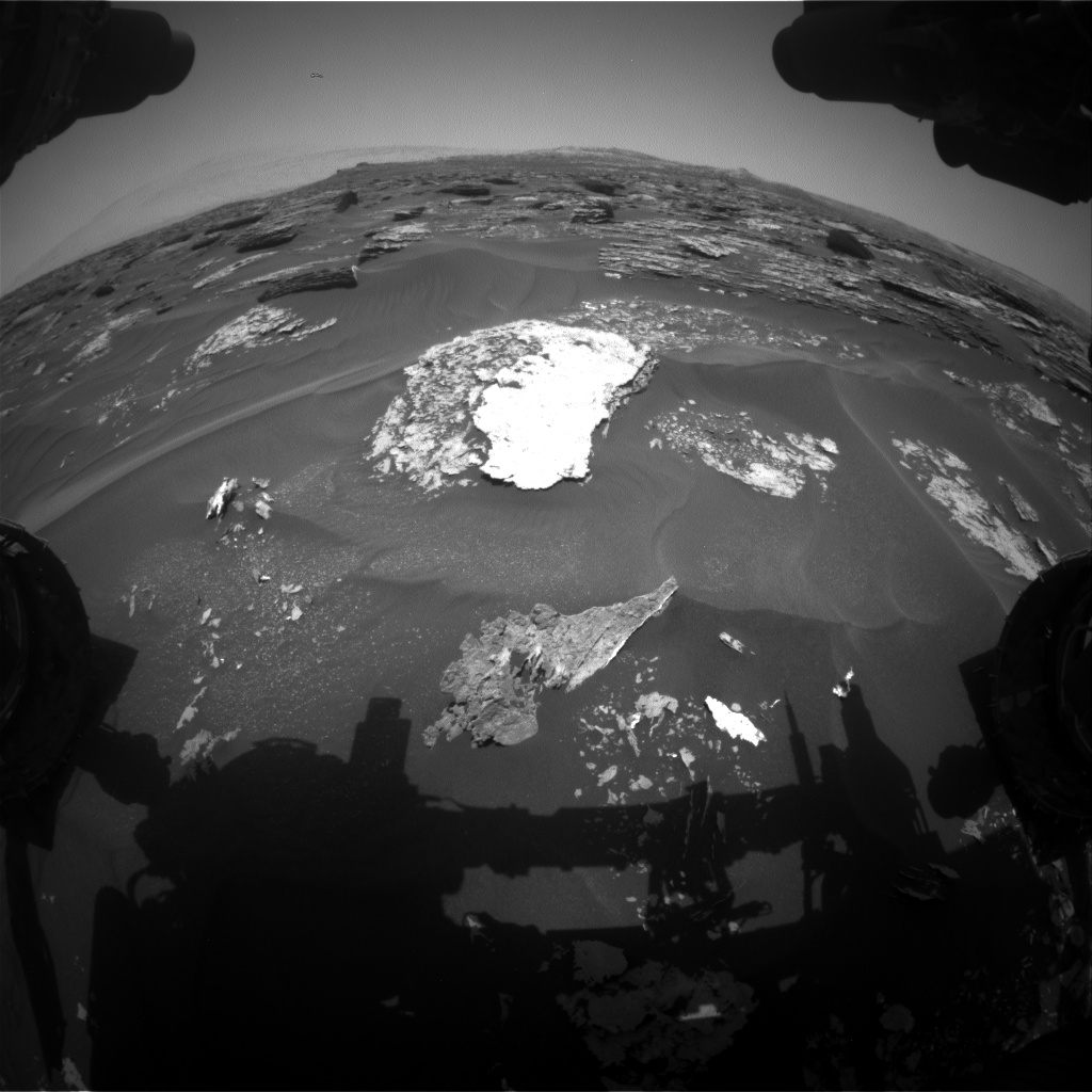 Nasa's Mars rover Curiosity acquired this image using its Front Hazard Avoidance Camera (Front Hazcam) on Sol 1701, at drive 1420, site number 63