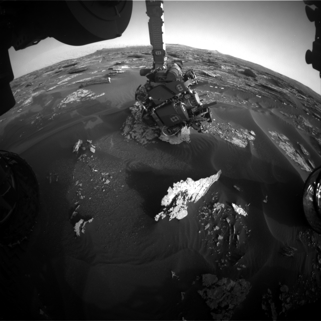 Nasa's Mars rover Curiosity acquired this image using its Front Hazard Avoidance Camera (Front Hazcam) on Sol 1702, at drive 1420, site number 63