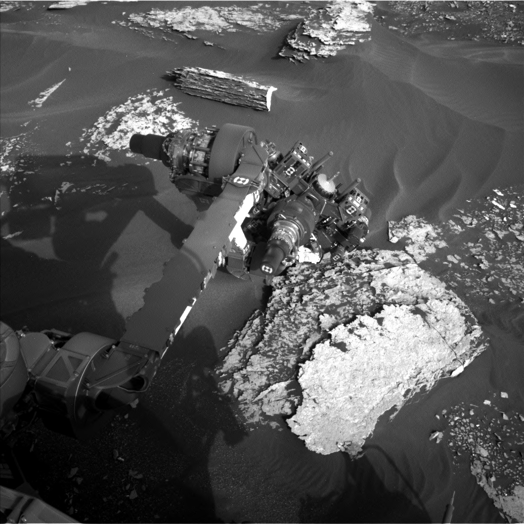 Nasa's Mars rover Curiosity acquired this image using its Left Navigation Camera on Sol 1702, at drive 1420, site number 63