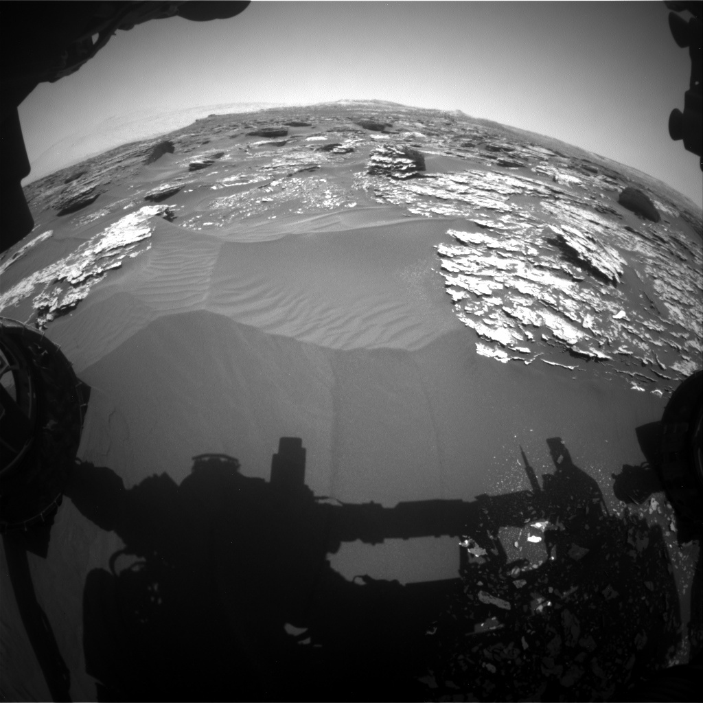 NASA's Mars rover Curiosity acquired this image using its Front Hazard Avoidance Cameras (Front Hazcams) on Sol 1703