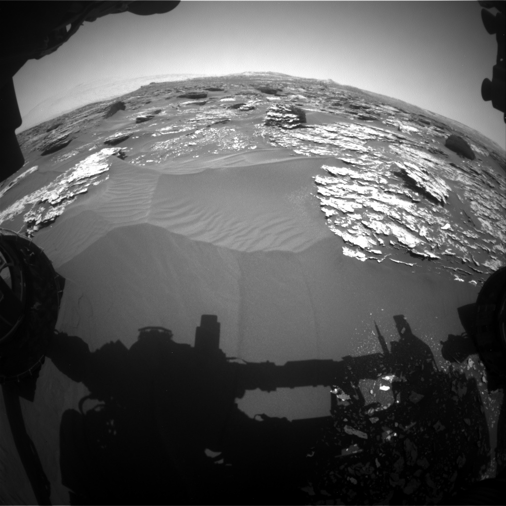 Nasa's Mars rover Curiosity acquired this image using its Front Hazard Avoidance Camera (Front Hazcam) on Sol 1703, at drive 1450, site number 63