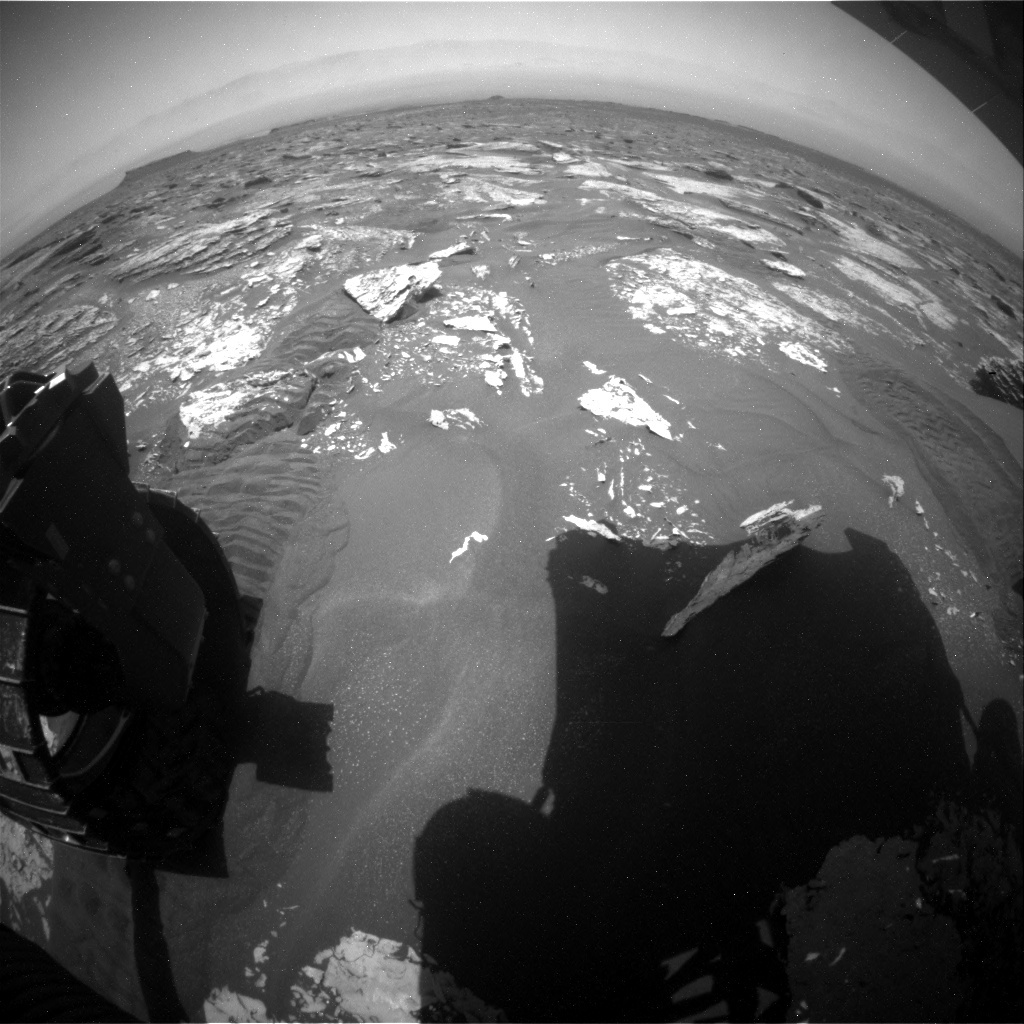 NASA's Mars rover Curiosity acquired this image using its Rear Hazard Avoidance Cameras (Rear Hazcams) on Sol 1703