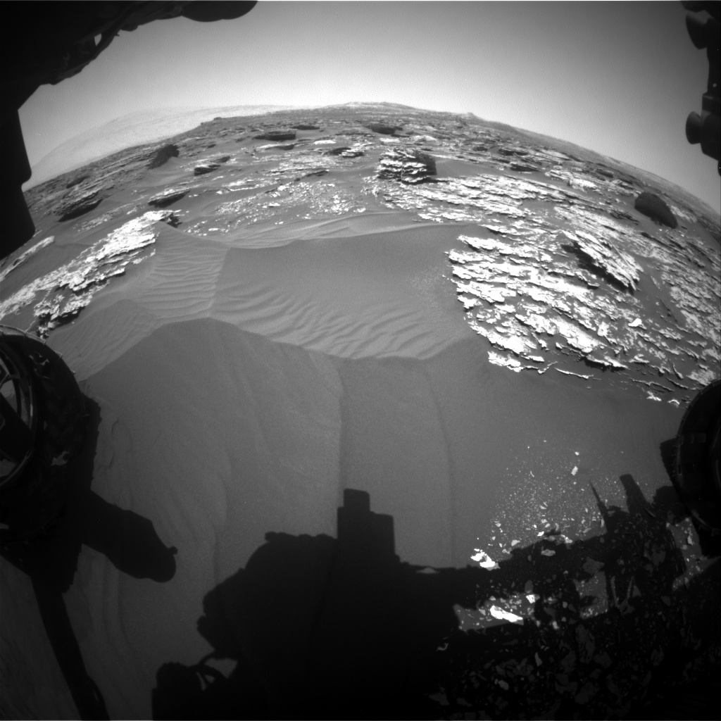 Nasa's Mars rover Curiosity acquired this image using its Front Hazard Avoidance Camera (Front Hazcam) on Sol 1704, at drive 1450, site number 63