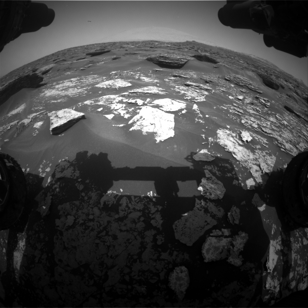 Nasa's Mars rover Curiosity acquired this image using its Front Hazard Avoidance Camera (Front Hazcam) on Sol 1705, at drive 1636, site number 63