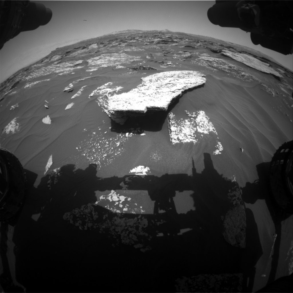 Nasa's Mars rover Curiosity acquired this image using its Front Hazard Avoidance Camera (Front Hazcam) on Sol 1707, at drive 1840, site number 63