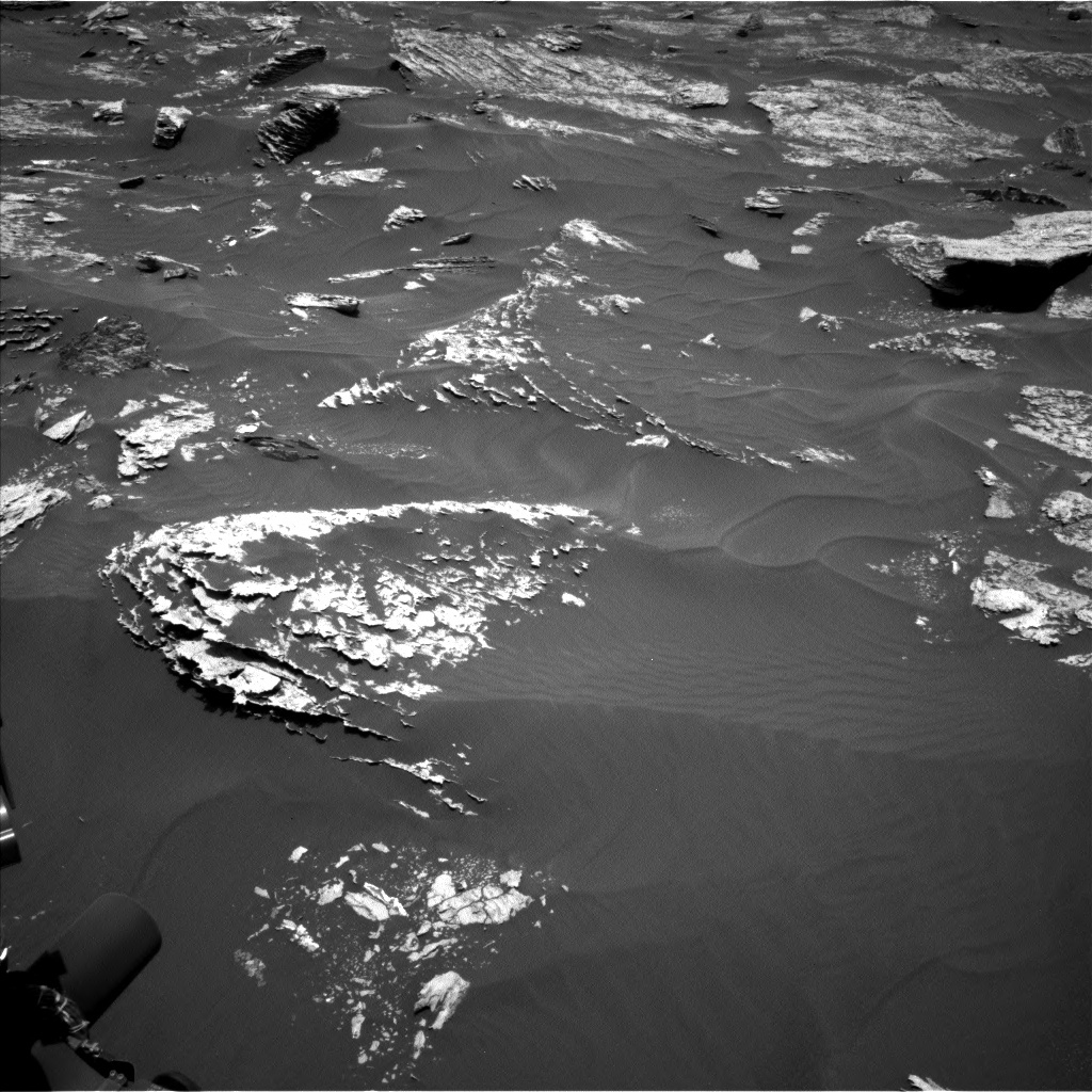 NASA's Mars rover Curiosity acquired this image using its Left Navigation Camera (Navcams) on Sol 1707