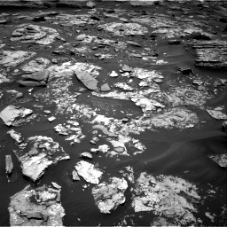 Nasa's Mars rover Curiosity acquired this image using its Right Navigation Camera on Sol 1707, at drive 1738, site number 63