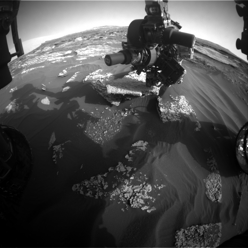 NASA's Mars rover Curiosity acquired this image using its Front Hazard Avoidance Cameras (Front Hazcams) on Sol 1710
