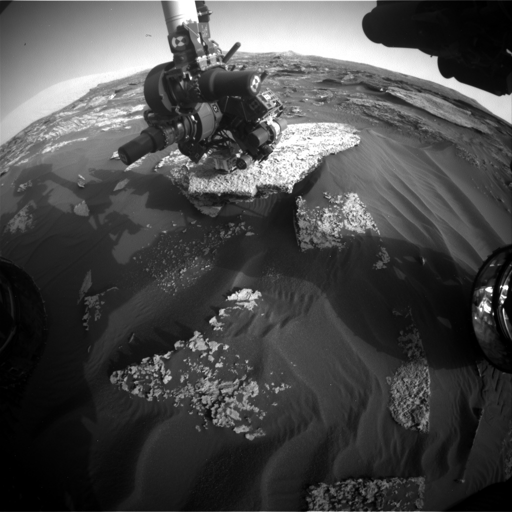 Nasa's Mars rover Curiosity acquired this image using its Front Hazard Avoidance Camera (Front Hazcam) on Sol 1710, at drive 1840, site number 63