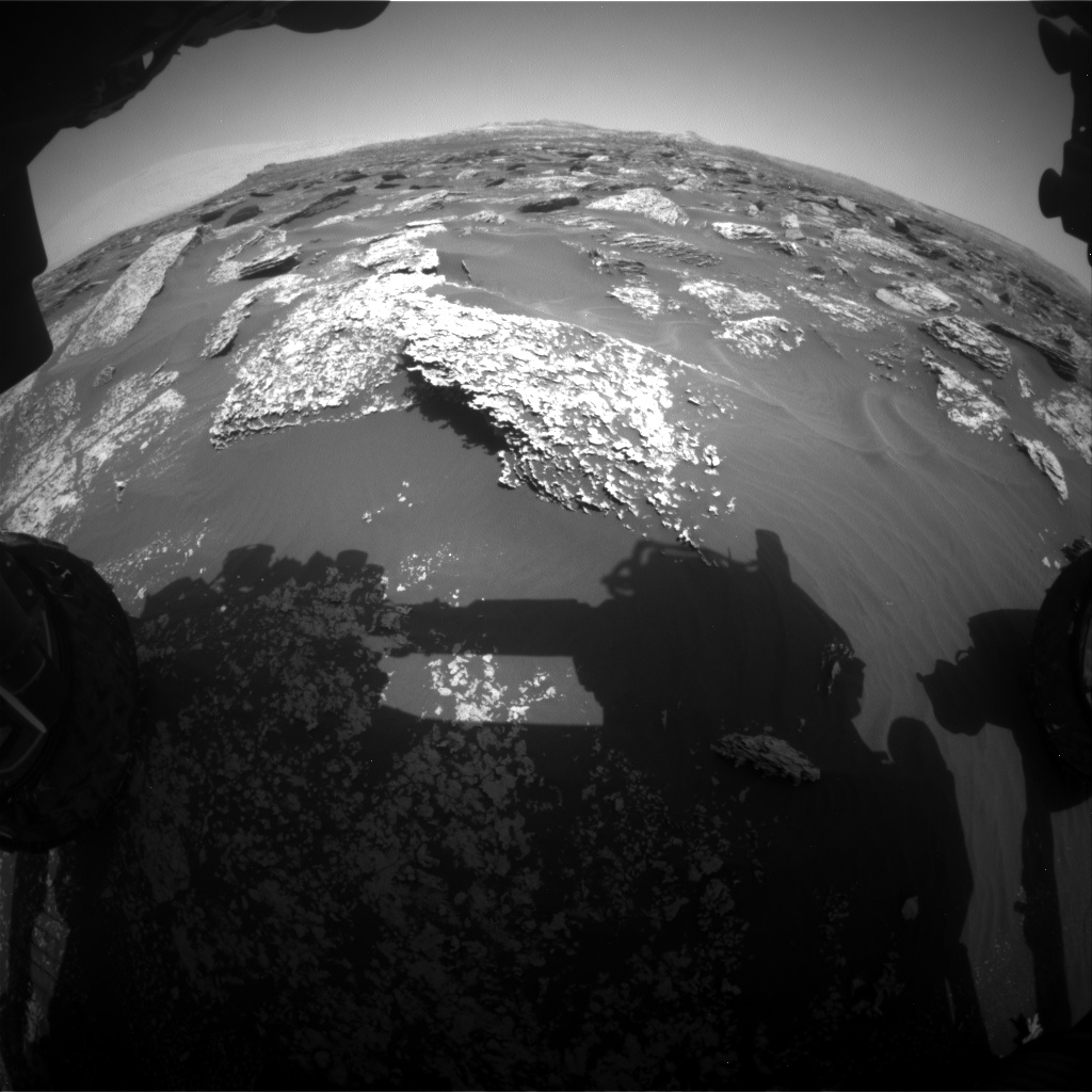 Nasa's Mars rover Curiosity acquired this image using its Front Hazard Avoidance Camera (Front Hazcam) on Sol 1711, at drive 2008, site number 63