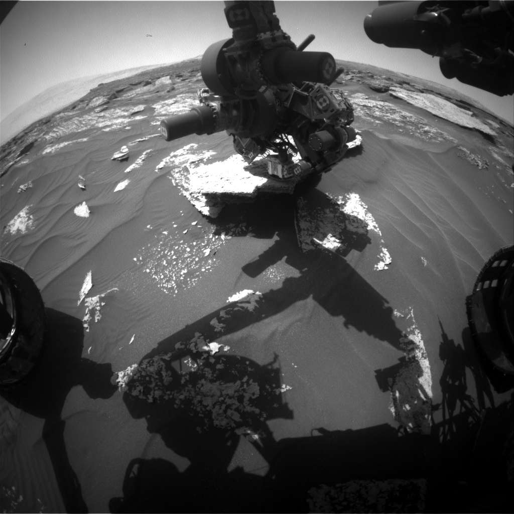 Nasa's Mars rover Curiosity acquired this image using its Front Hazard Avoidance Camera (Front Hazcam) on Sol 1711, at drive 1840, site number 63