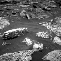 Nasa's Mars rover Curiosity acquired this image using its Right Navigation Camera on Sol 1711, at drive 2002, site number 63