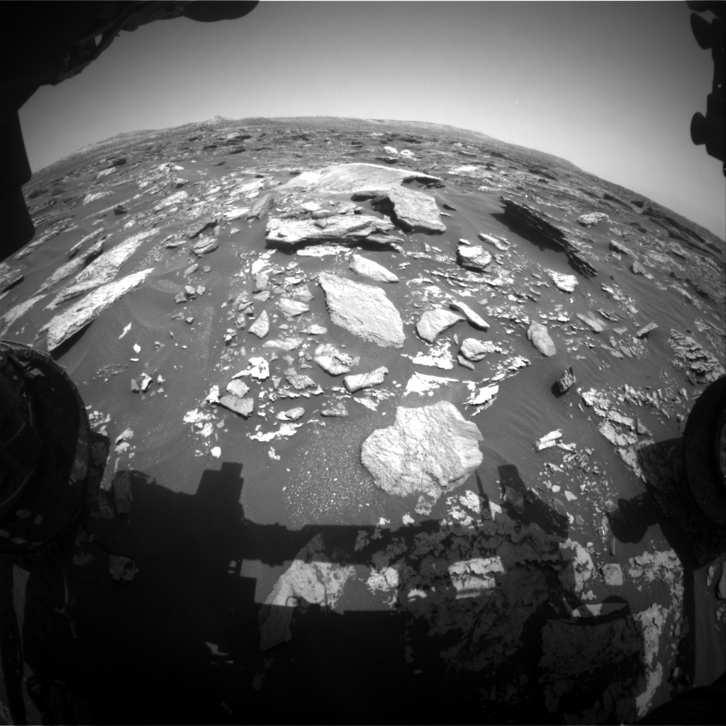 Nasa's Mars rover Curiosity acquired this image using its Front Hazard Avoidance Camera (Front Hazcam) on Sol 1712, at drive 2086, site number 63