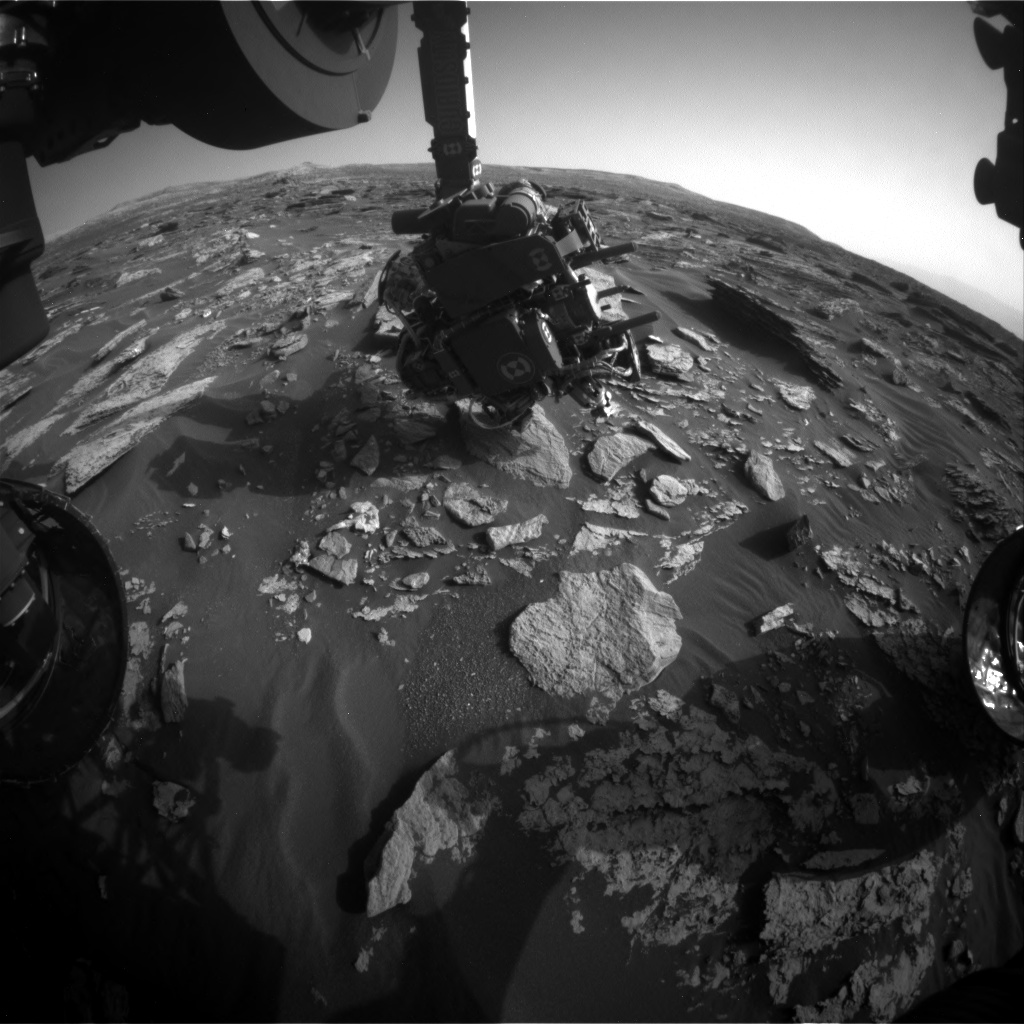 Nasa's Mars rover Curiosity acquired this image using its Front Hazard Avoidance Camera (Front Hazcam) on Sol 1714, at drive 2086, site number 63