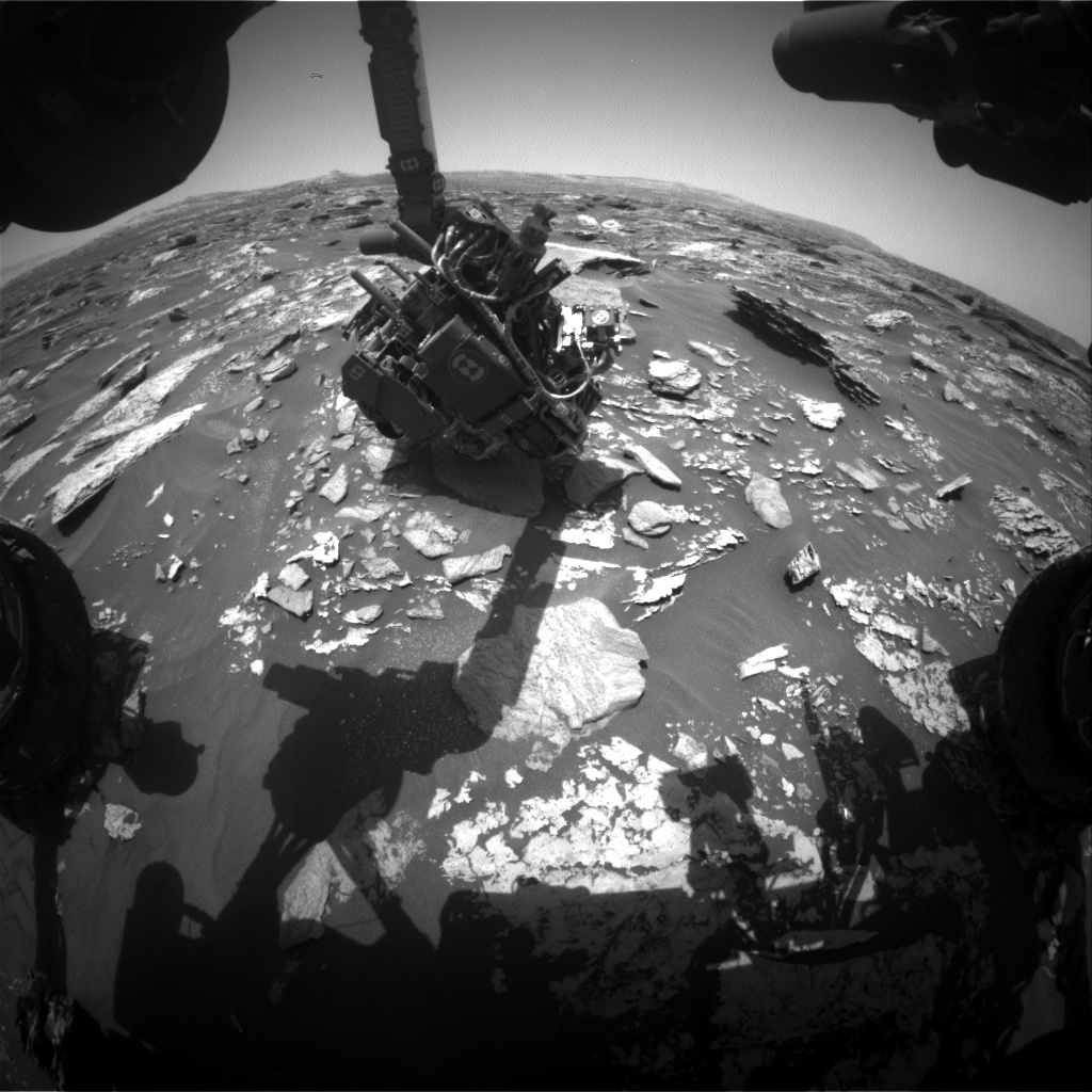 Nasa's Mars rover Curiosity acquired this image using its Front Hazard Avoidance Camera (Front Hazcam) on Sol 1715, at drive 2086, site number 63