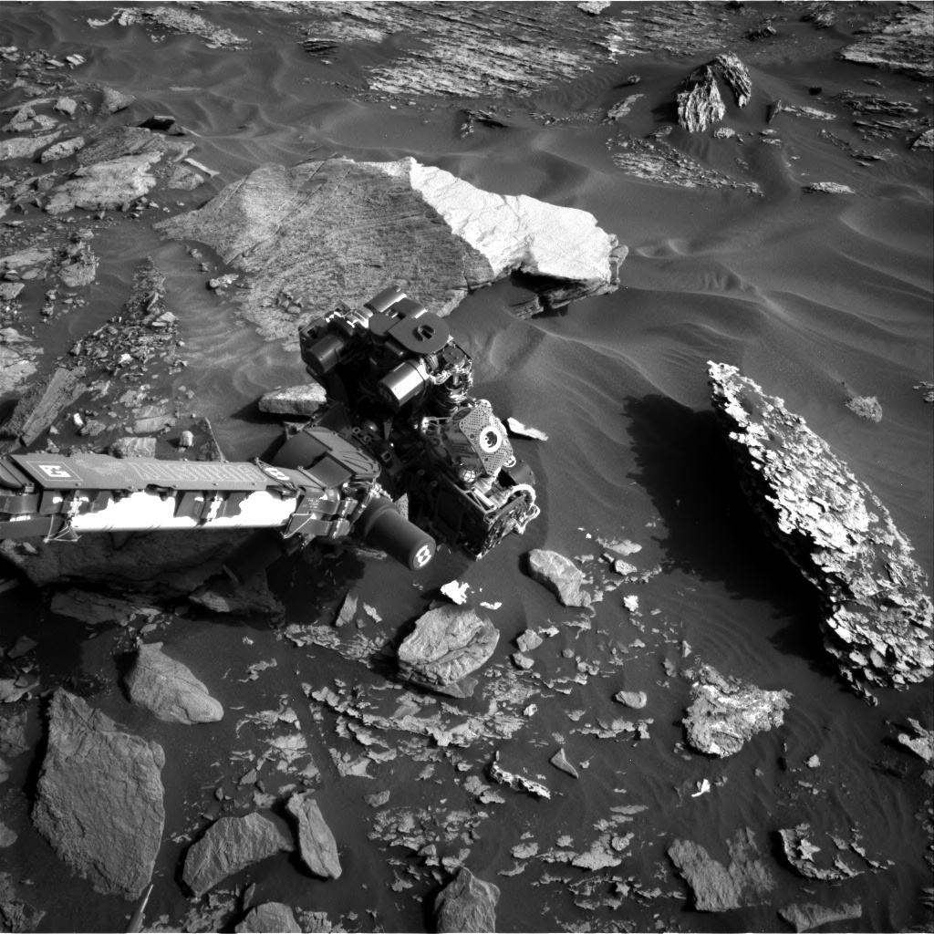 NASA's Mars rover Curiosity acquired this image using its Right Navigation Cameras (Navcams) on Sol 1715