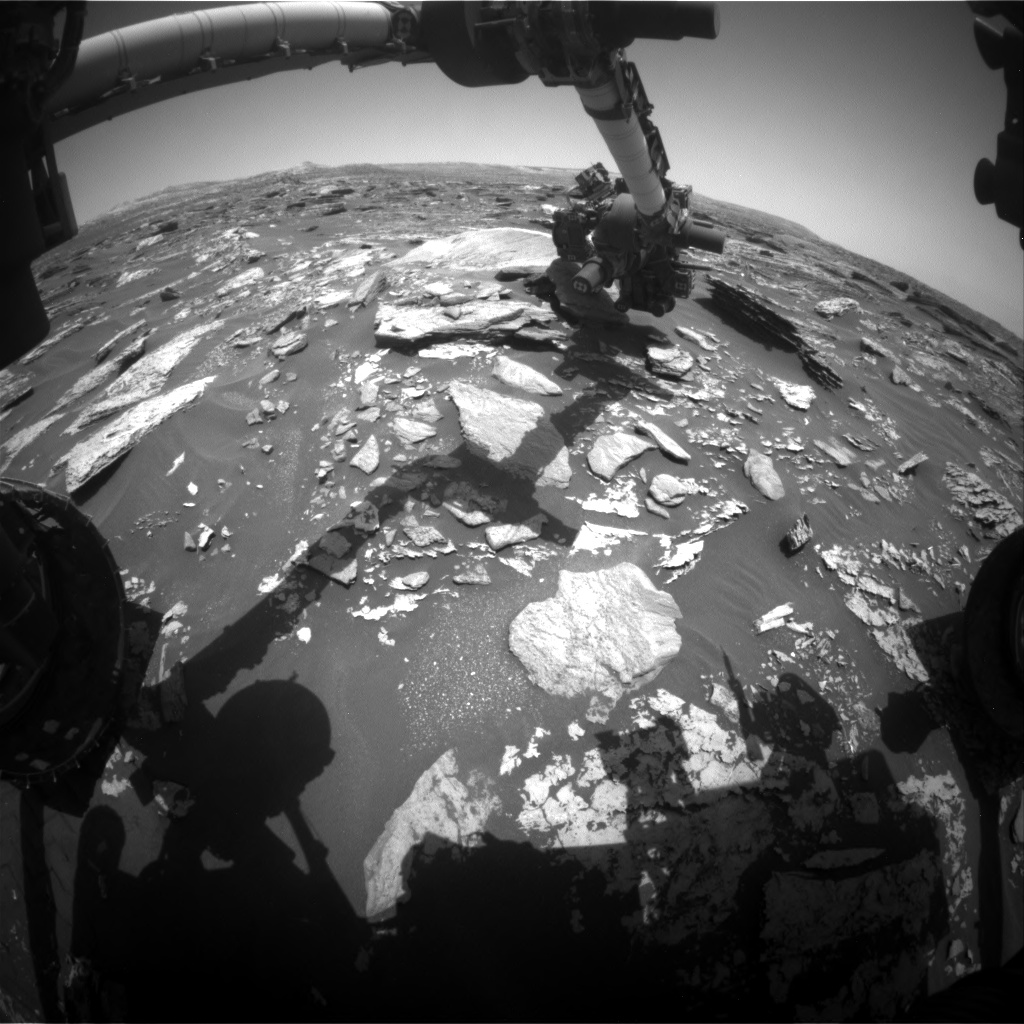 Nasa's Mars rover Curiosity acquired this image using its Front Hazard Avoidance Camera (Front Hazcam) on Sol 1716, at drive 2086, site number 63