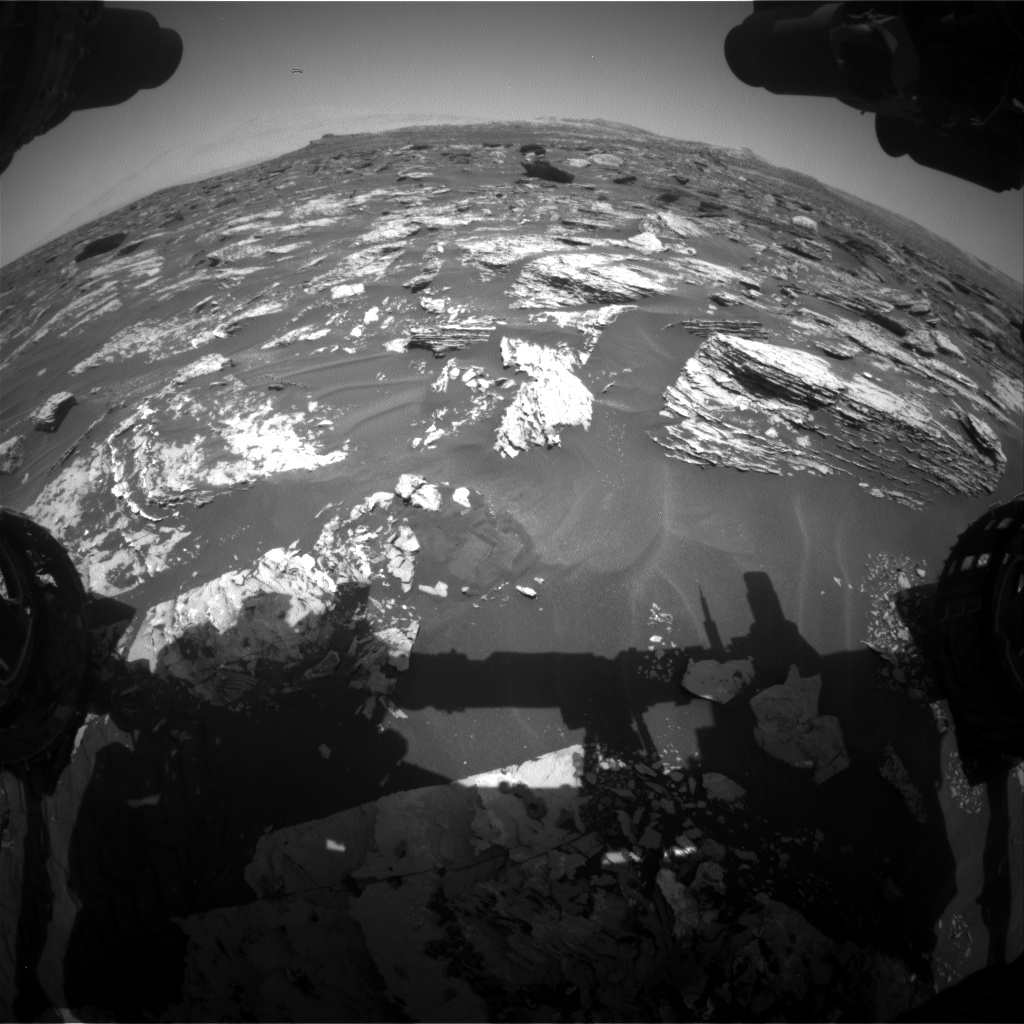 Nasa's Mars rover Curiosity acquired this image using its Front Hazard Avoidance Camera (Front Hazcam) on Sol 1717, at drive 2372, site number 63