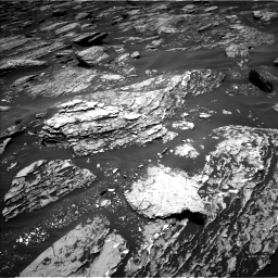 Nasa's Mars rover Curiosity acquired this image using its Left Navigation Camera on Sol 1717, at drive 2332, site number 63
