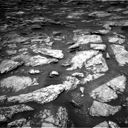 Nasa's Mars rover Curiosity acquired this image using its Left Navigation Camera on Sol 1717, at drive 2362, site number 63