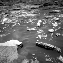 Nasa's Mars rover Curiosity acquired this image using its Right Navigation Camera on Sol 1717, at drive 2116, site number 63
