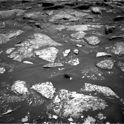Nasa's Mars rover Curiosity acquired this image using its Right Navigation Camera on Sol 1717, at drive 2254, site number 63