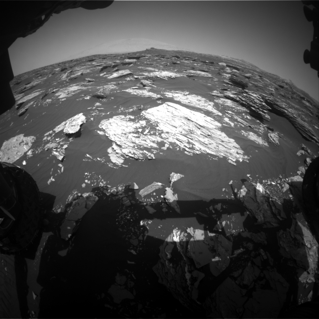 Nasa's Mars rover Curiosity acquired this image using its Front Hazard Avoidance Camera (Front Hazcam) on Sol 1718, at drive 2582, site number 63
