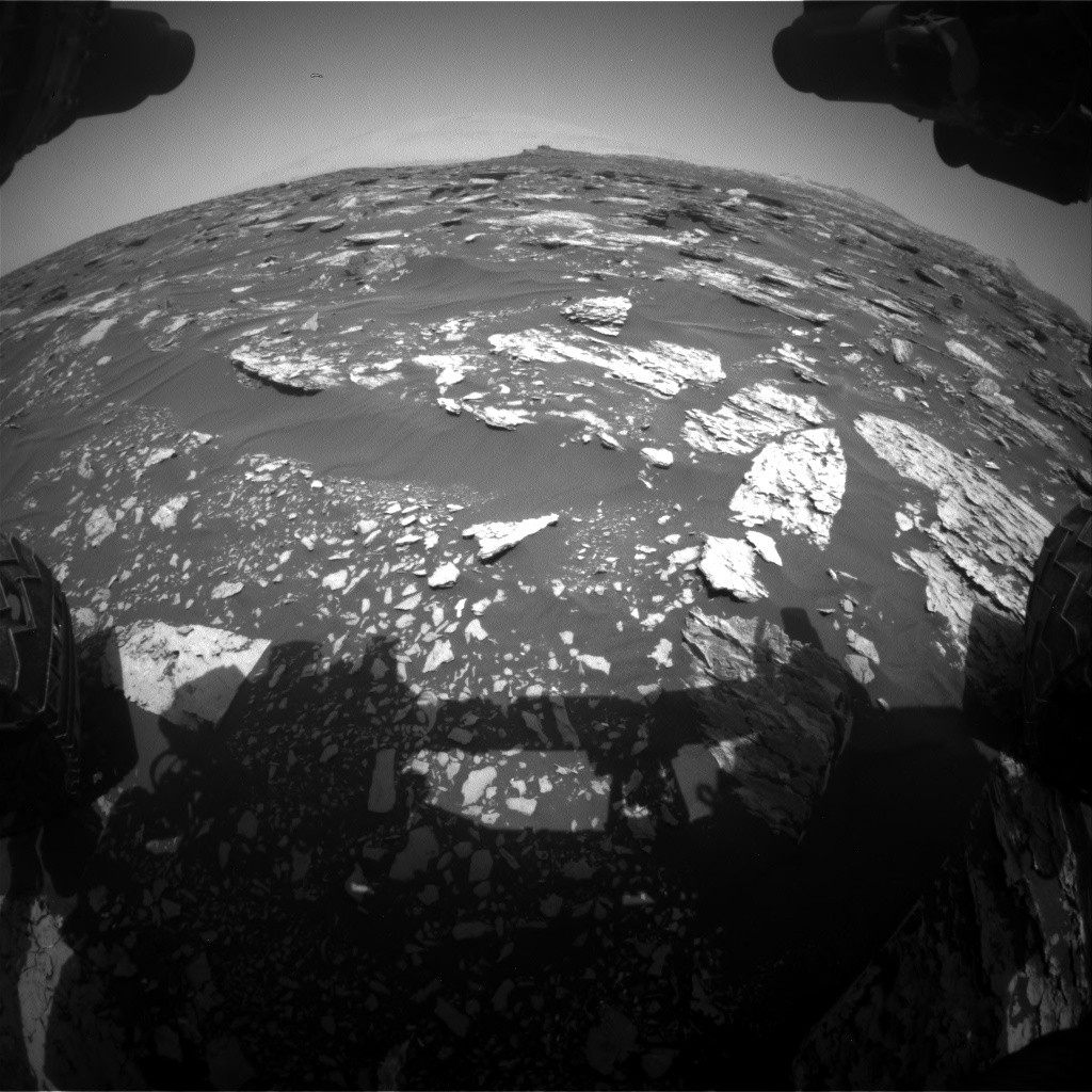 NASA's Mars rover Curiosity acquired this image using its Front Hazard Avoidance Cameras (Front Hazcams) on Sol 1718