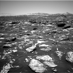 Nasa's Mars rover Curiosity acquired this image using its Left Navigation Camera on Sol 1718, at drive 2492, site number 63