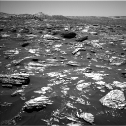 Nasa's Mars rover Curiosity acquired this image using its Left Navigation Camera on Sol 1718, at drive 2522, site number 63