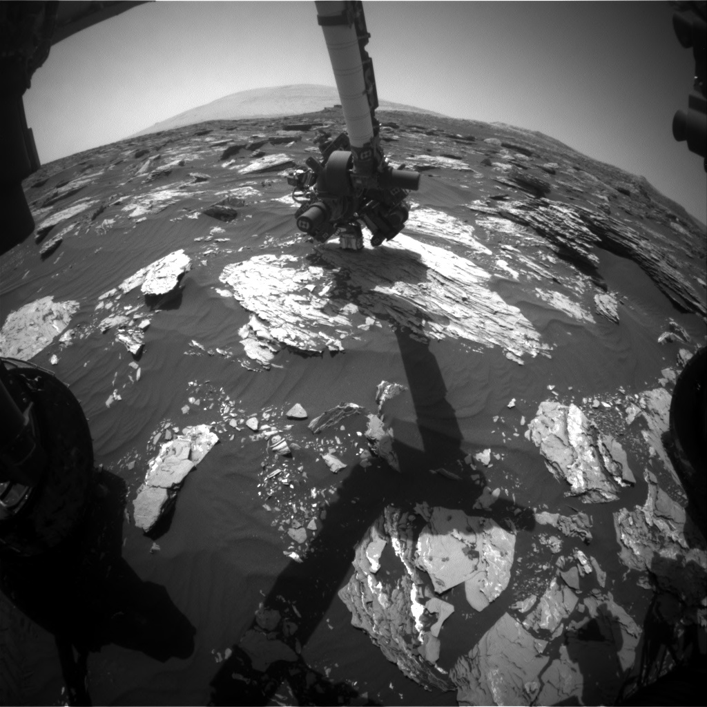 Nasa's Mars rover Curiosity acquired this image using its Front Hazard Avoidance Camera (Front Hazcam) on Sol 1719, at drive 2582, site number 63