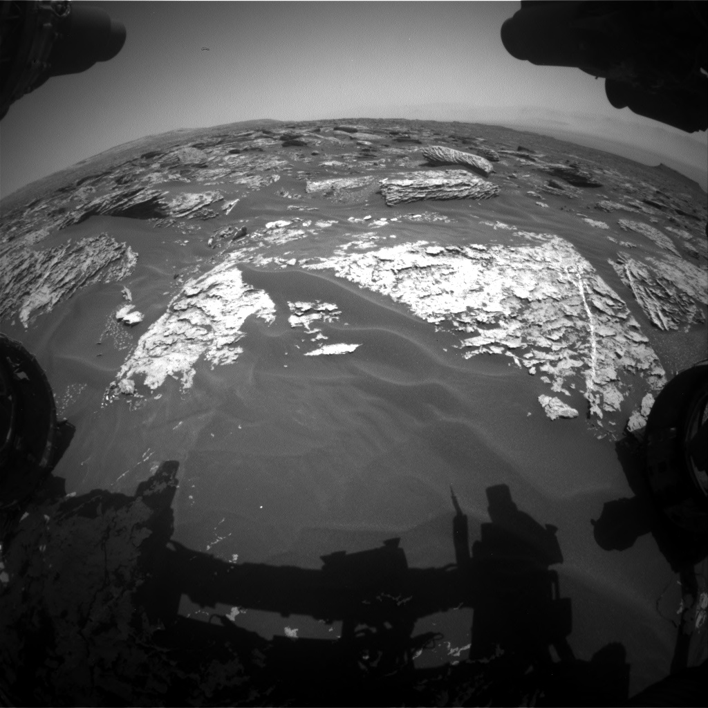 Nasa's Mars rover Curiosity acquired this image using its Front Hazard Avoidance Camera (Front Hazcam) on Sol 1719, at drive 2672, site number 63