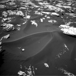 Nasa's Mars rover Curiosity acquired this image using its Left Navigation Camera on Sol 1719, at drive 2654, site number 63