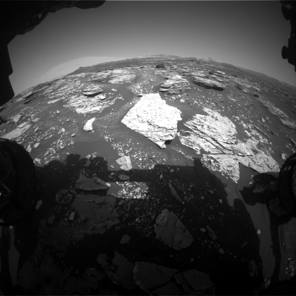 Nasa's Mars rover Curiosity acquired this image using its Front Hazard Avoidance Camera (Front Hazcam) on Sol 1720, at drive 2978, site number 63