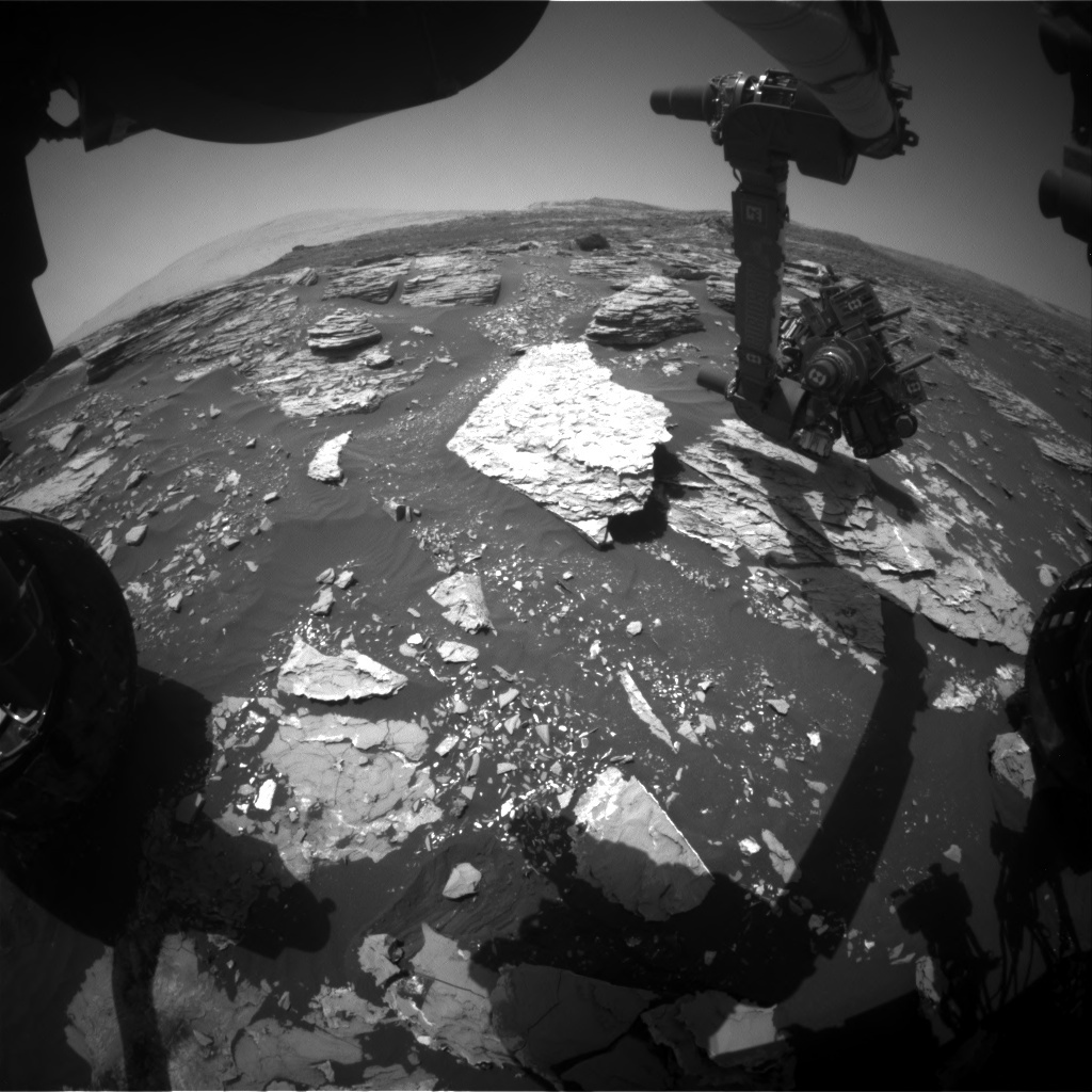 NASA's Mars rover Curiosity acquired this image using its Front Hazard Avoidance Cameras (Front Hazcams) on Sol 1721