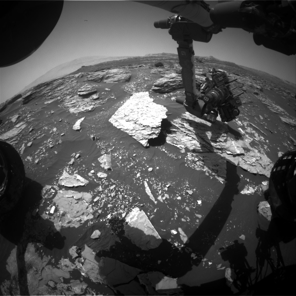 Nasa's Mars rover Curiosity acquired this image using its Front Hazard Avoidance Camera (Front Hazcam) on Sol 1721, at drive 2978, site number 63