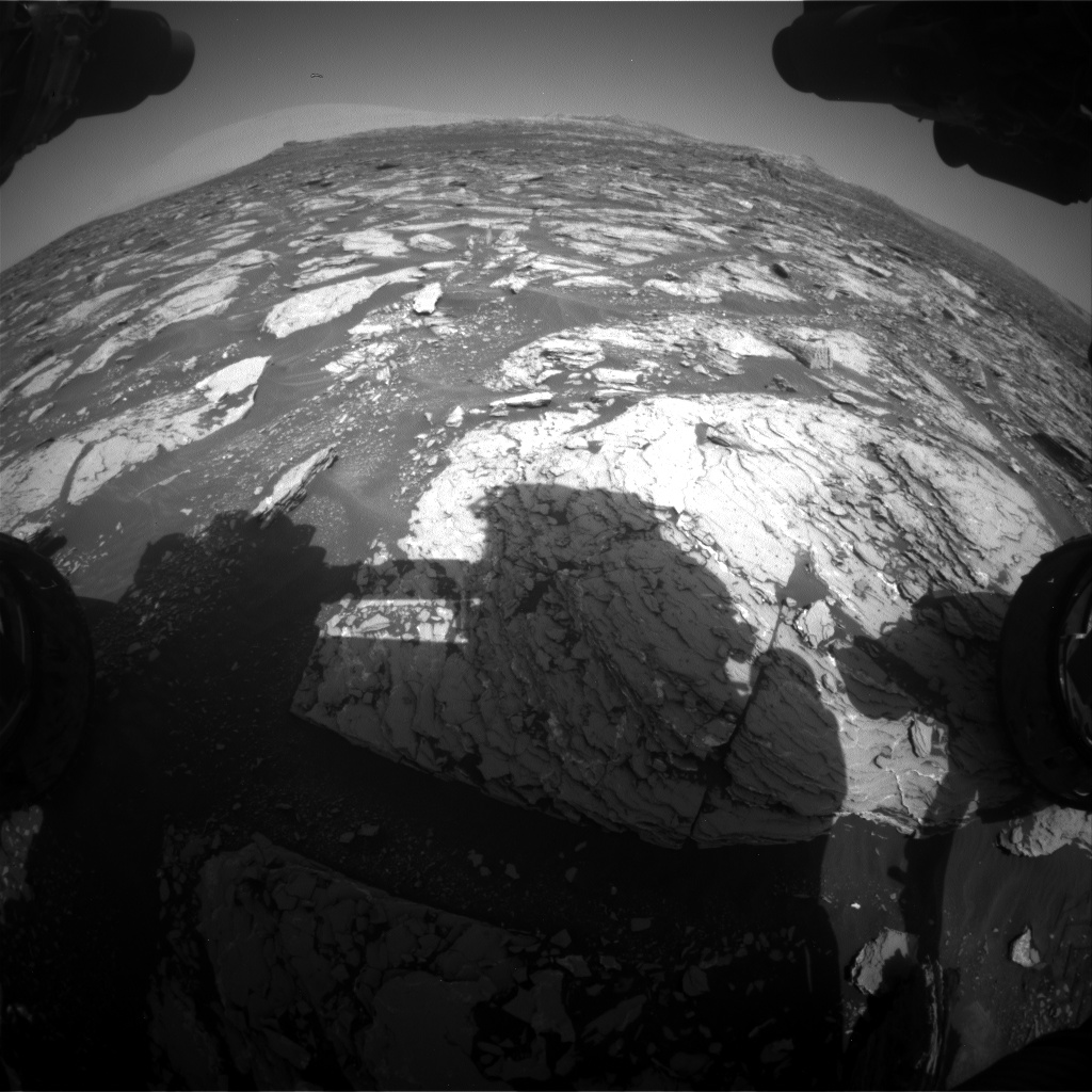Nasa's Mars rover Curiosity acquired this image using its Front Hazard Avoidance Camera (Front Hazcam) on Sol 1721, at drive 3092, site number 63